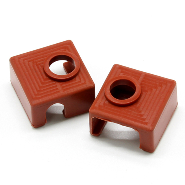 2 PACK for 3D Printer Heater Block Silicone Cover MK7/MK8/MK9 Silicone Socks for Creality CR-10,10S,S4,S5 Anet A8 Heater Block