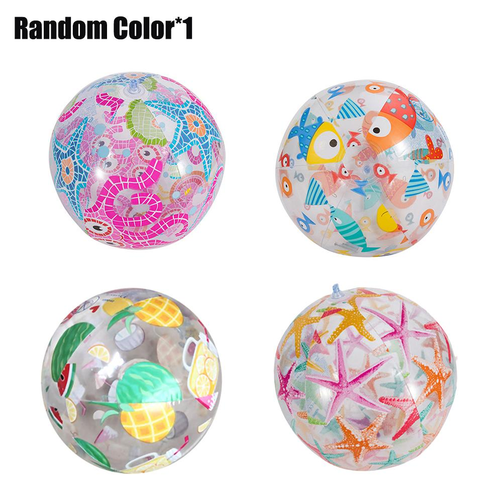 Children Inflatable Water Ball Outdoor Swimming Toy PVC Beach Elastic Float Ball Parent Child Interactive Inflatable Water Ball