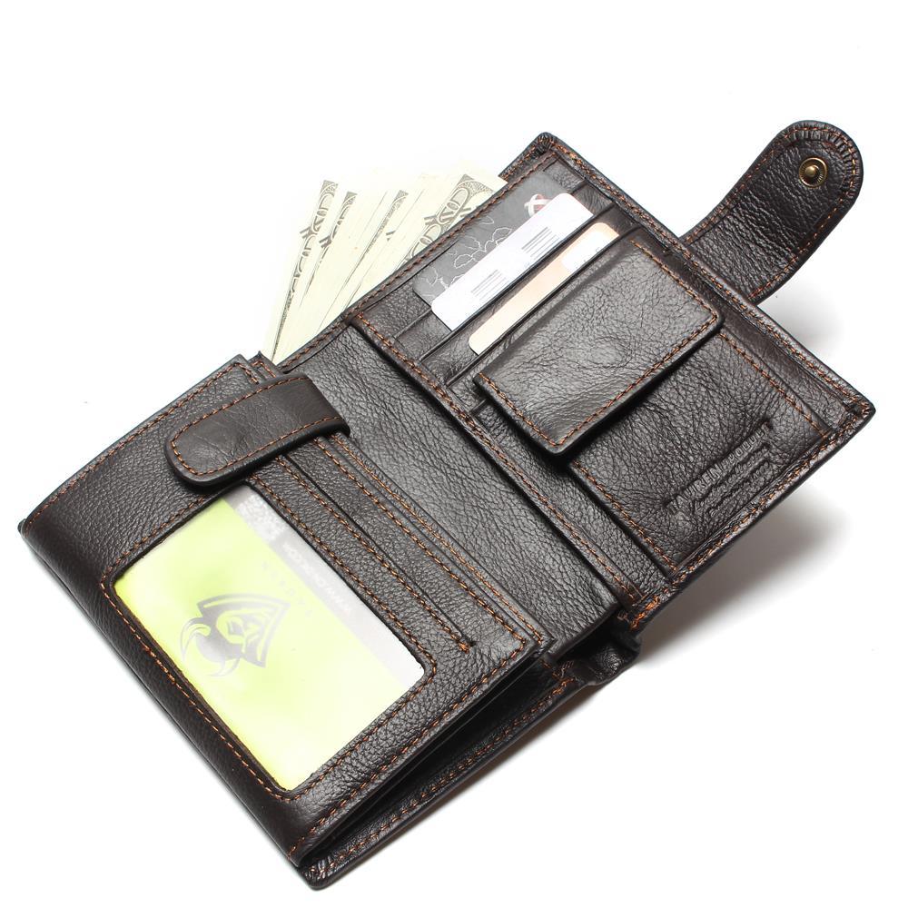 couro dos homens bolsa Interior : Bolso Interior do Entalhe, bolso Interior do Zipper, compartimento Interior, bolsa de Zíper, coin Pocket, note Compartment, photo Holder, suporte de Cartão