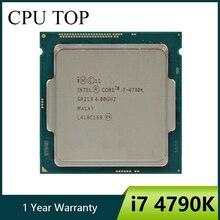 معالج إنتل كور i7 4790K 4.0GHz رباعي النواة 8MB مخبأ مع رسومات عالية الدقة 4600 TDP 88 واط لكمبيوتر سطح المكتب LGA 1150 CPU