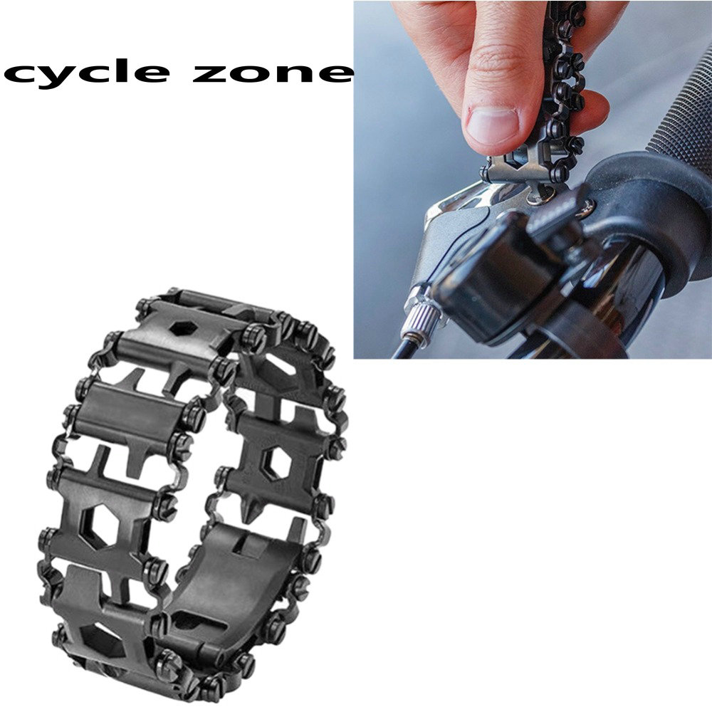Cycle zone Bracelet for MEN Stainless Steel Walker Wearable Punk Leatermens Outdoor Screwdriver Bracelets Multifunctional Tools sdh 100 mini portable bluetooth v3 0 stereo speaker w mic tf slot blue black white