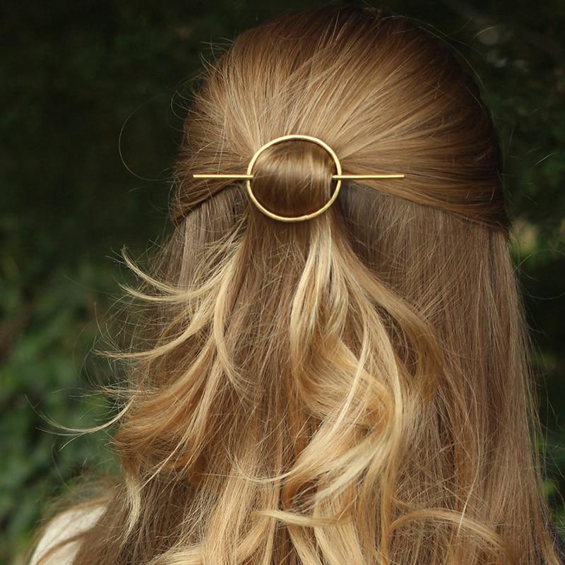 Vintage Hair Clip Wedding Hair Accessories Circel Hair Jewelry Hair Stick Tiara Fashion Bride Women Bijoux Cheveux Mariage