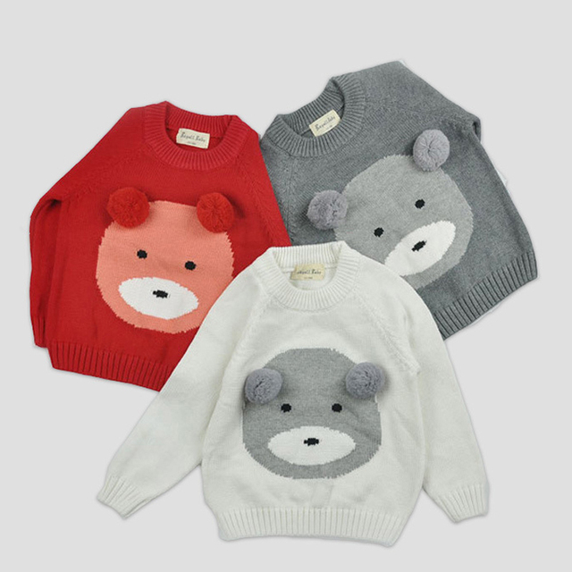8bcd869a8 Children Clothing New 2016 Kids Girls Cute Bear Pattern Sweaters ...