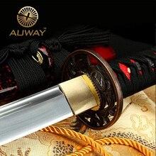 in Handmade Japanese Samurai Katana Sword 1045 Full tang Blade Sharp - Custom Real Espadas Katanas Battle Ready