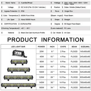 Image 4 - 9D Lens Single Row Led Light Bar Offroad per 12V 24V Uaz ATV SUV Truck moto Faros 4x4 Off road Driving Work Barra Lights
