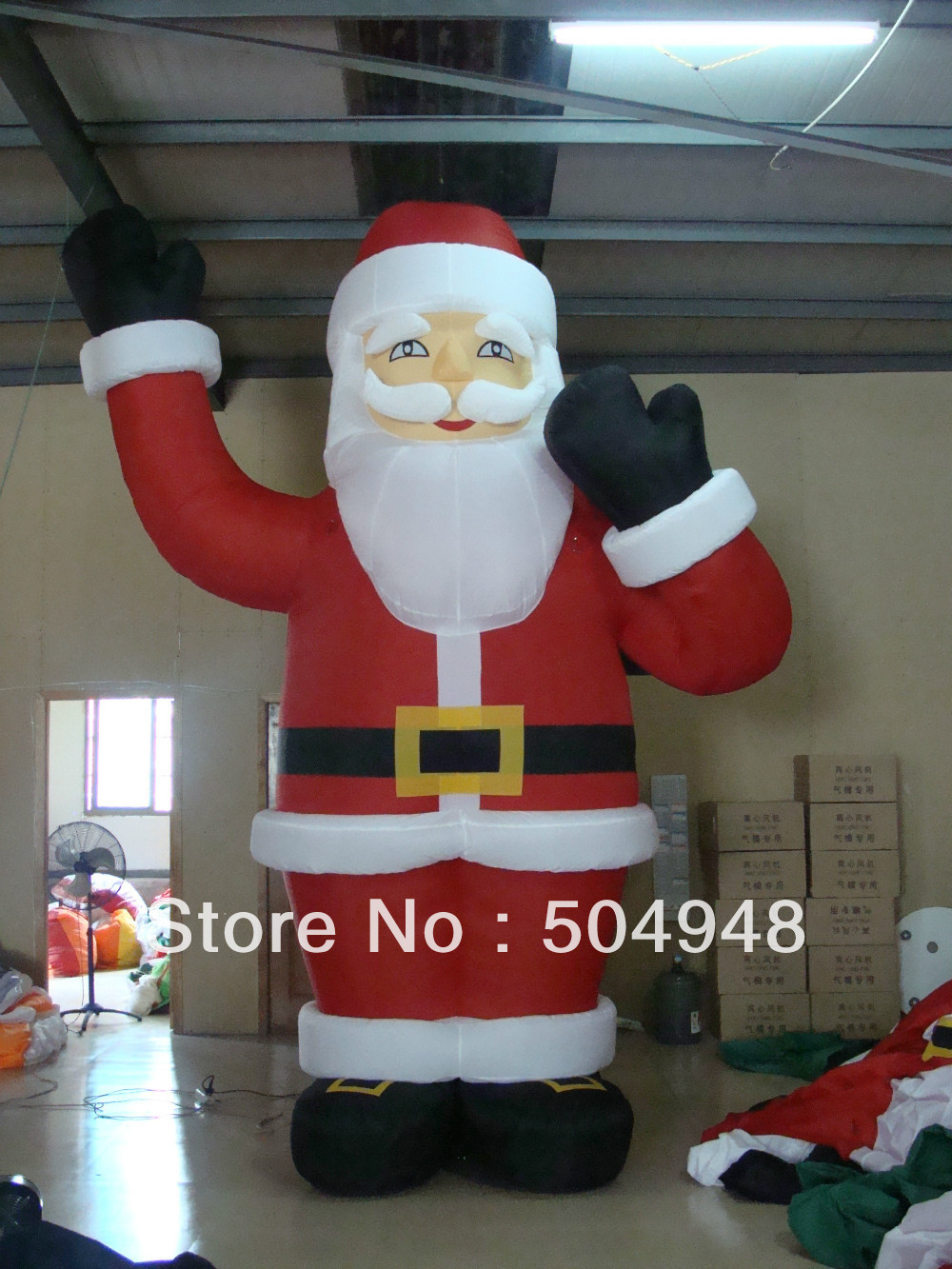 цена на 2017 Inflatable Santa Claus for Christmas decoration