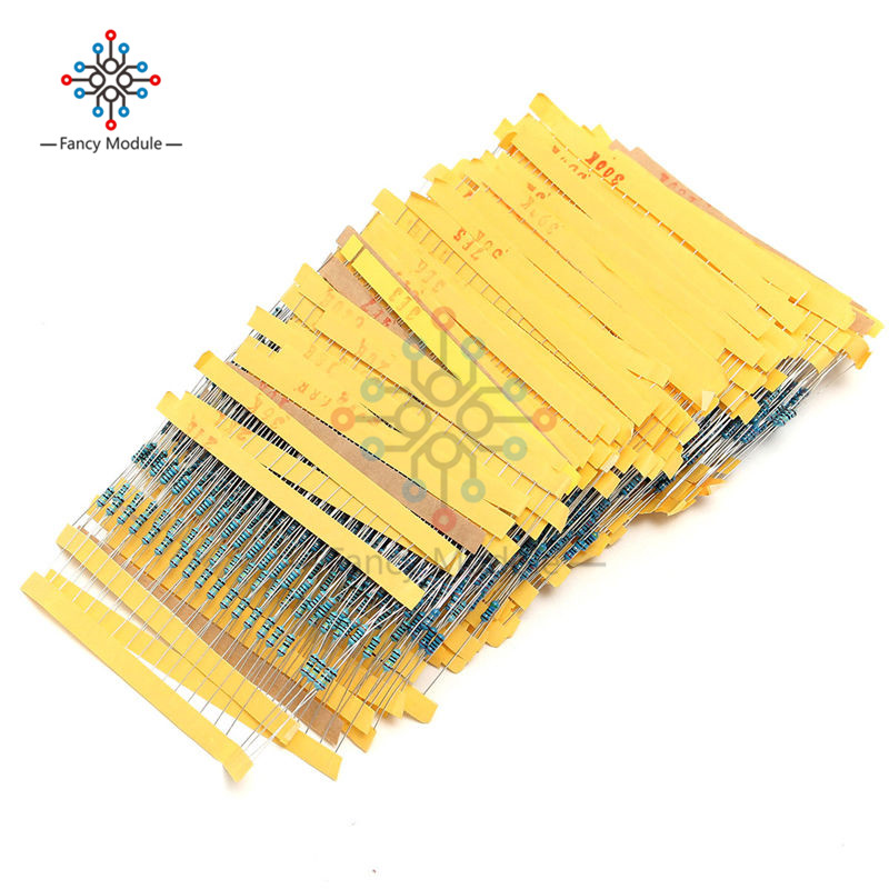 High Quality Wholesale Price 2600pcs 130 Values 1/4W 0.25W 1% Metal Film Resistors Assorted Pack Kit Set Lot
