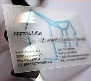 Image 2 - Aangepaste transparante PVC visitekaartjes bezoek card business card printing, clear frosted visitekaartjes