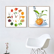 Food Painting Water Fruit Bike Fruits Nordic Poster Apple Lemon Kitchen Decor Canvas Prints Wall Pictures for Living Room