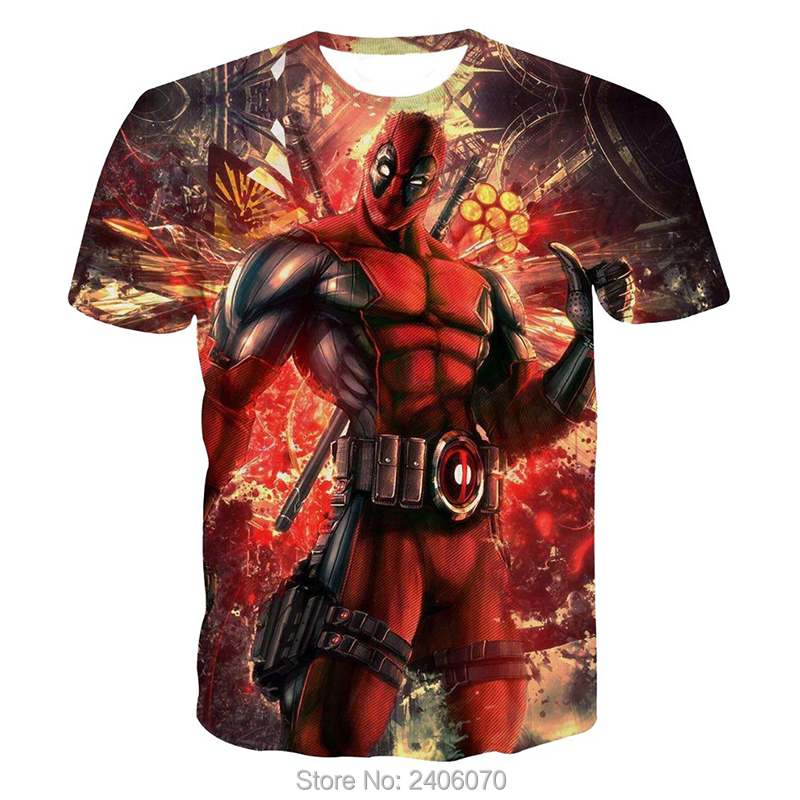 Teenager boy t shirt children summer kids clothes deadpool 3d t-shirt teens boy tees tops 3d sweatshirt superhero costume-1