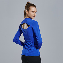 Women Quick-dry Yoga Tight Long-sleeve T-Shirt Anti-Sweat Fitness Running Mesh Tops Tees Breathable Bodybuilding Sportswears112