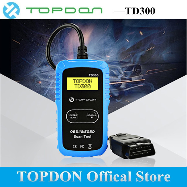 TOPDON OBD2 Scanner TD300 12V EOBD Code Reader OBDII Automotive Diagnostic tools Date Tester Auto for DIYers PK MS300 CR4001