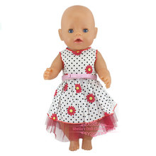 Fashion Dress For 17 Inch  Baby Reborn Doll 43cm  Clothes