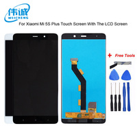 WEICHENG Top Quality For Xiaomi Mi 5s plus LCD Screen Display + Touch Screen Assembly +Tools