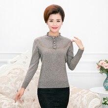 2016 Новый дизайн сезона зима-осень дамы Бисер Толстый Пуловер кашемировый свитер