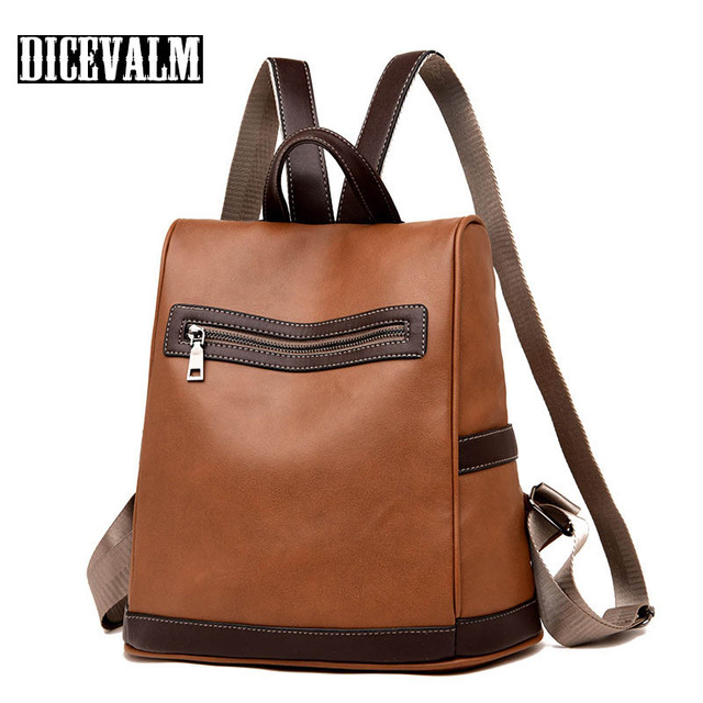 7c791fe600 Backpack Women School Bags For Teenage Girls Leather Travel Backpack Female  High Quality Back Pack Ladies Shoulder Bag 2019