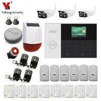 Yobang безопасности приложение Управление RFID руку 2,4 дюймов WI FI GSM SOS Главная охранной Системы Дым пожарный Сенсор видео IP Камера