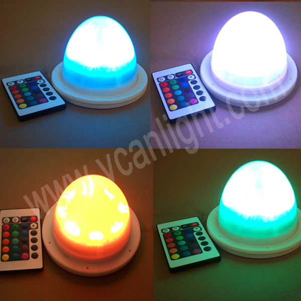 10pcs fast free shipping super bright 12cm wedding decoration color changing battery operated led light bulb - Colored Light Bulbs