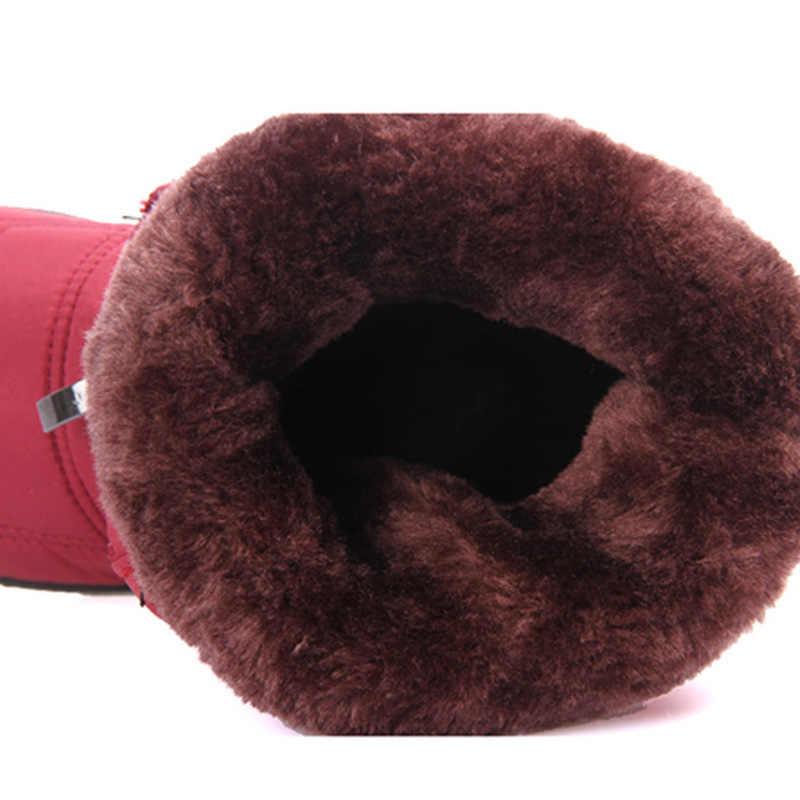 Stivaletti Per Le Donne Inverno Stivali Da Neve Caldo Peluche Stivali Scarpe Donna Inverno Stivaletti Delle Donne Impermeabili Stivali Scarpe Madre 2019
