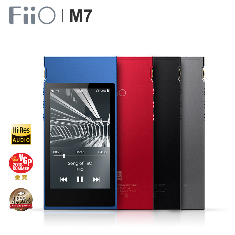 FiiO M7 Ad alta Risoluzione Audio Senza Perdita di dati Lettore Bluetooth4.2 aptX-HD LDAC Touch Screen MP3 con il Supporto Radio FM nativo DSD