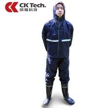 CK Tech Профессиональный Взрослых Открытый Длинный Плащ С Капюшоном Толще Безопасности Светоотражающие Ленты Работы Дизайн Путешествия Дождевики Пончо 101
