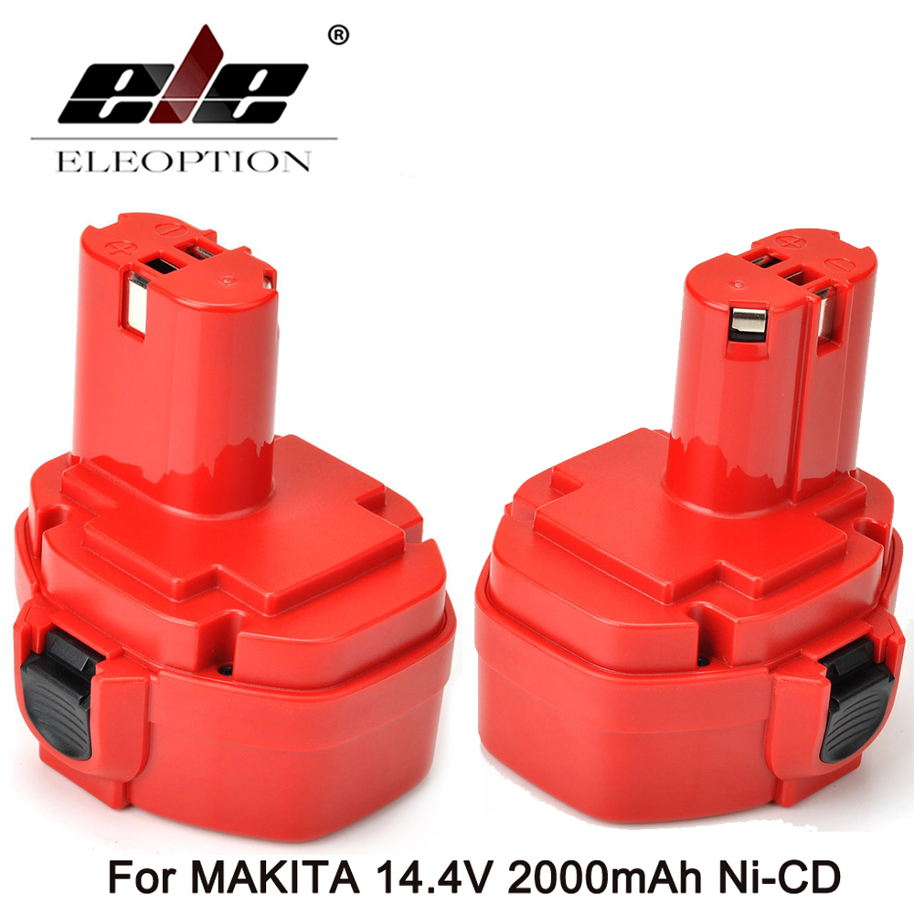 ELEOPTION 2PCS NEW 14 4 Volt 2000mAh NI CD Power Tool Battery for MAKITA 14 4V