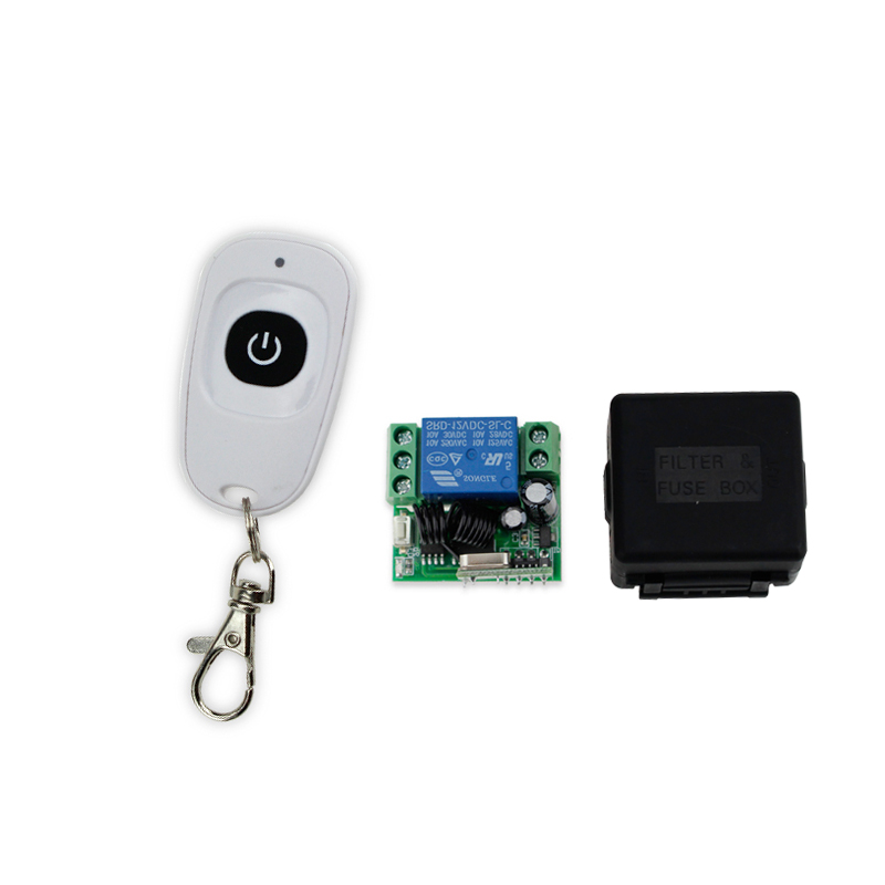 Hot Sales! 433MHz 12V 1CH wireless remote control switch+receiver module+shell for single door access control hot sales dc 12v 1ch 10a 4 receiver