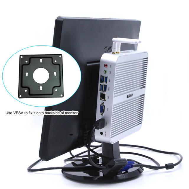 Hystou 3 Year Warranty PC Intel NUC i5 I3 I7 Fanless Mini PC Windows 10  Micro Desktop Computer HDMI VGA 4k HTPC TV Box Small PC