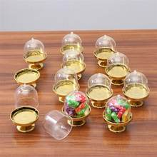 12pcs Tray Modeling Shape Candy Box Party Favor Boxes Candy Holders Gift Box (Golden Base)(China)
