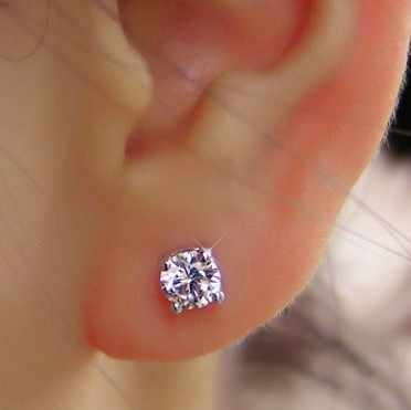 Fashion New Exquisite Korean Crystal Earrings FOR Female Cute Jewelry Earrings Wholesale