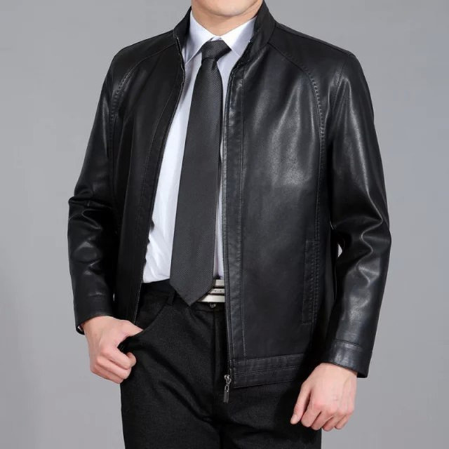 Spring And Autumn New Fashion Style Casual Jacket Mens Faux Sheepskin Leather Jacket Men Leather Jackets and Coats Free Shipping