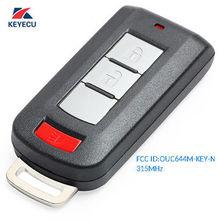 KEYECU mando a distancia Fob 2 + Panic para Mitsubishi Mirage Outlander 2008 2016 OUC644M KEY N