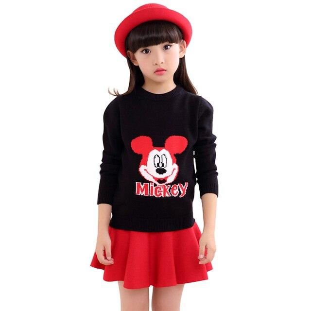 Шерстяные Дети Свитер 2016 Осенью И Зимой Детская Одежда Новый Опрятный Стиль Пуловер Knittted Пуловеры Рубашка Для Девочек