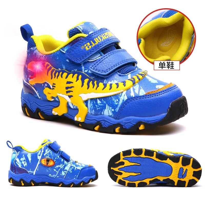 Dinoskulls Children's Shoes Spring Autumn 2019 Kids Sports Shoes Boy Light Up LED Shoes Kids Running Shoes Toddler Boys 27 34