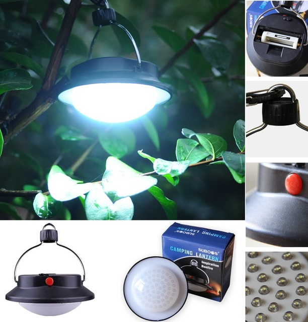 Outdoor Indoor Camping 60 LED Lamp Portable Lantern Fishing Light With Lampshade Circle Tent White