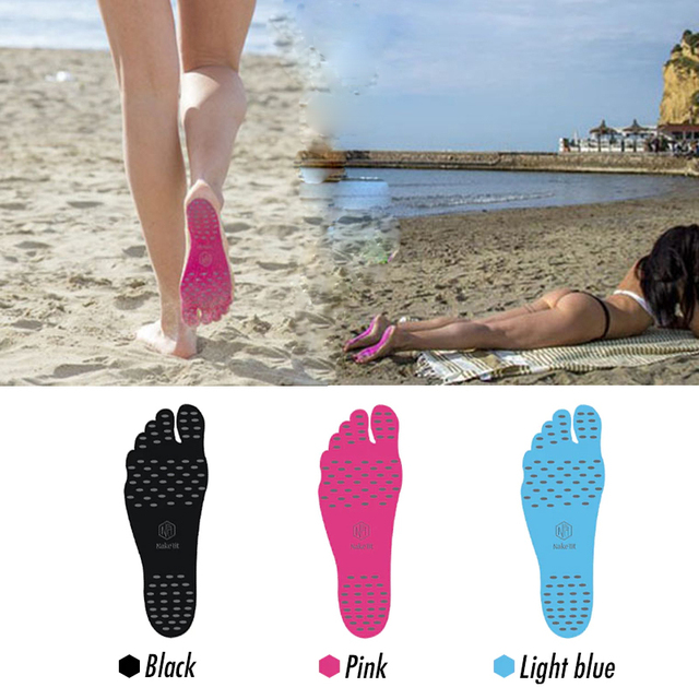 Drop ship NAKEFIT Adhesive Feet Pad Stick On Anti-Slip Soles Sticker Shoes Stick on Soles Sticky Pads for feet