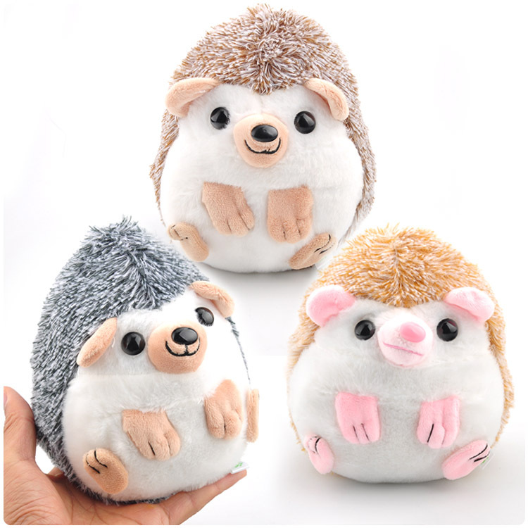 18cm Cute Lovely Hedgehog Animal Doll Stuffed Plush Toy Soft Cotton Hedgehog Plush Toys Birthday Gifts for Kids stuffed plush animals large peter rabbit toy hare plush nano doll birthday gifts knuffel freddie toys for girls cotton 70a0528