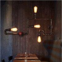 4 фары Лофт стиль Эдисона настенный светильник водопровод винтажные промышленные настенные светильники для бара прохода балкон Lamparas De Pared