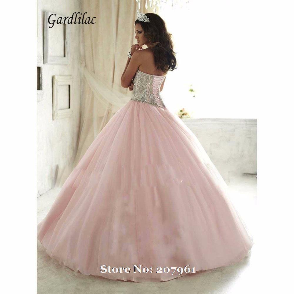 Gardlilac Rosa Vestidos de Quinceañera 2017 vestido de Bola Rosa ...