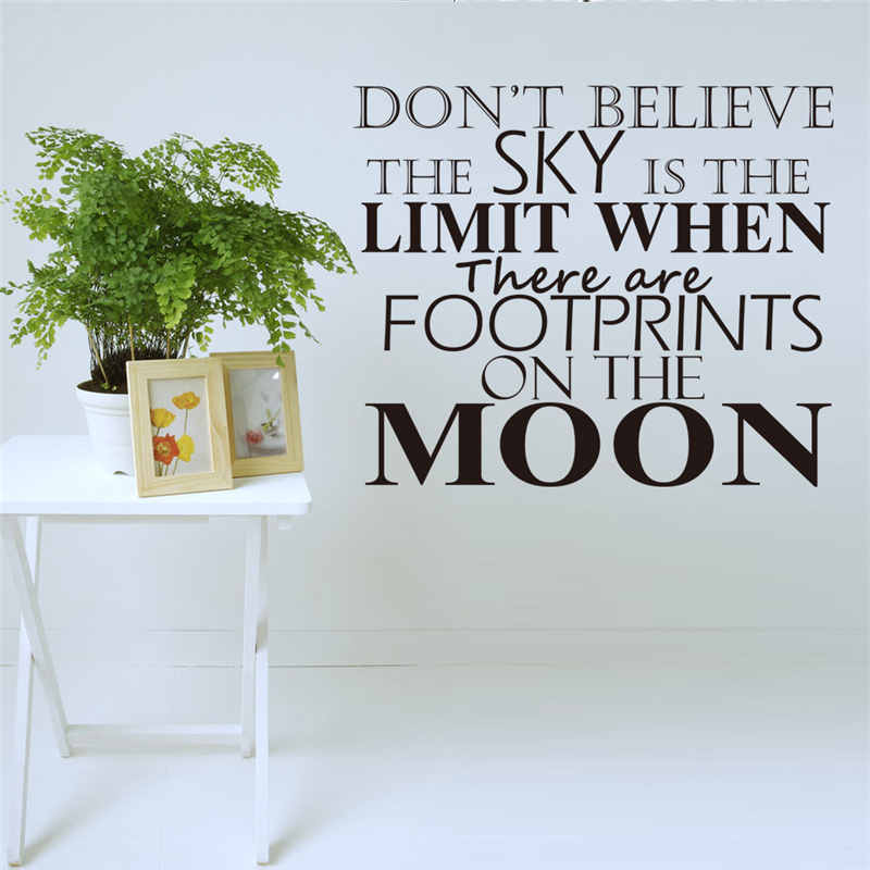 Dont believe the sky is the limit inspirational quotes wall stickers living room decoration diy home decals vinyl art on aliexpress com alibaba group