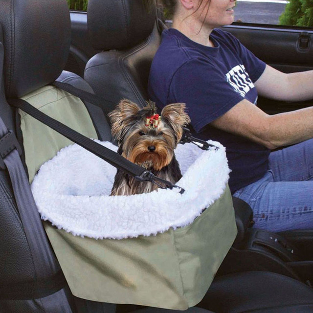 Perro plegable del Asiento de Coche de Refuerzo Para Mascotas Bolso Cesta Coche Automóviles Viajes Cama Para Perros/Gatos/Conejos Con Correa de seguridad de Almacenamiento de Bolsillo