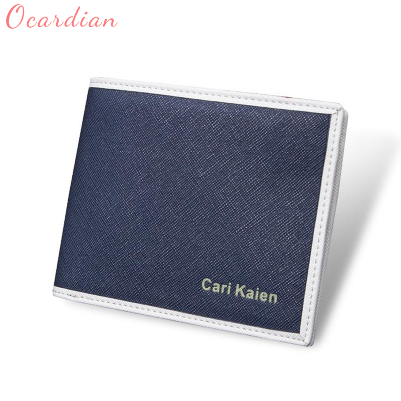 2018 Ocardian Man Synthetic Leather Wallet Pocket Credit Card Clutch Bifold Purse Fit for all style of clothes best gifts C0126