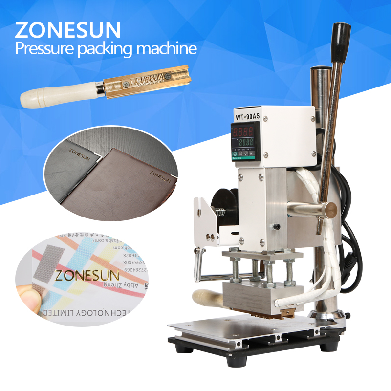 ZONESUN Hot Foil Stamping Machine Manual Bronzing Machine for PVC Card leather and paper stamping machine zonesun hot foil stamping machine manual bronzing machine for pvc card leather and paper stamping machine
