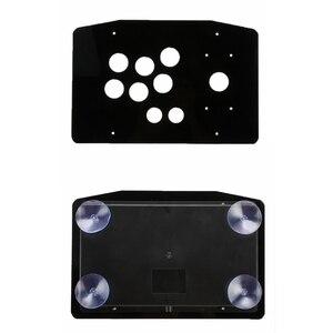 Image 2 - Acryl Panel Fall Ersatz DIY Klar Schwarz Arcade Joystick Griff Arcade Spiel Kit Robust Bau Einfach zu Installieren