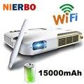 Nierbo 1080 p proyector dlp educación home theater led proyector interactivo 15000 mah batería android 4.4 wifi bluetooth hdmi usb