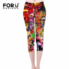FORUDESIGNS Multicolor Printed Legging Fashion Slim Women leggings High Elastic Soft Stretch Pants female Leggins Sexy Panties