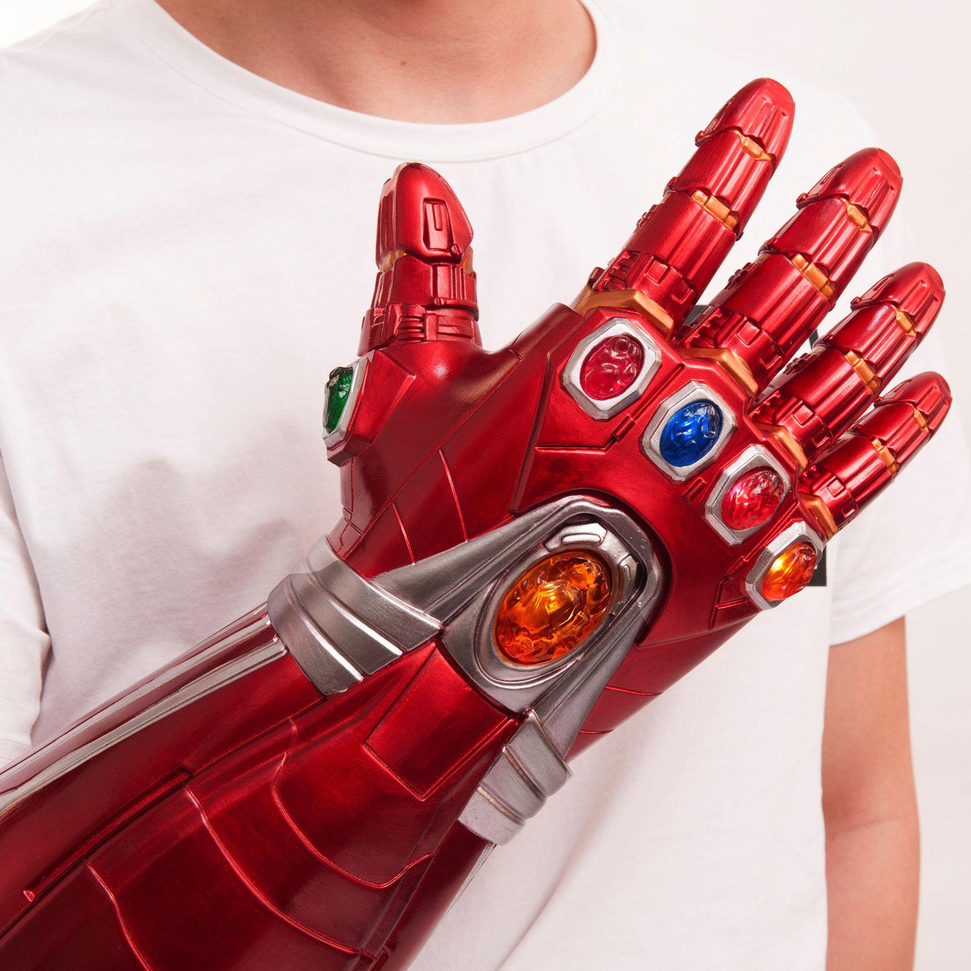 Avengers Endgame Infinity Gauntlet Cosplay Iron Man Tony Stark LED Gloves Props