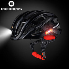 RockBros Men Women Cycling Night Safety Riding Ultralight Helmet Intergrally-molded Mountain Road Bicycle MTB Helmet rockbros bike helmet with colorful back light ultralight women men mtb road bicycle helmet night cycling accessories k6107