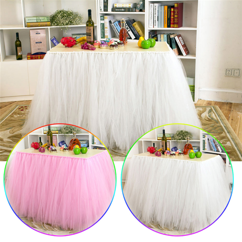 91.5*80cm Wedding Table Dressing Table Tutu Tulle Skirt Cover For Party Baby  Shower Home Wedding Decoration In Table Skirts From Home U0026 Garden On ...