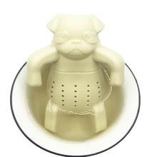 Angry Pug Tea Infuser FDA Grade Silicone Loose Leaf Herbal Tea Strainer